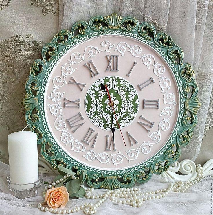 """Купить часы настенные """"Адель"""" - зеленый, часы, часы настенные, часы интерьерные"""