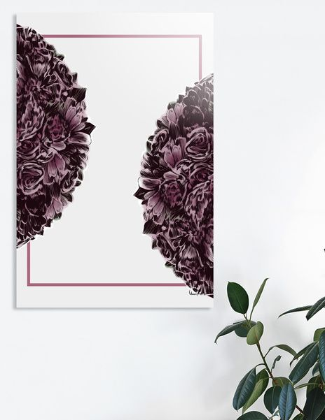 Discover «Delicate flower spring», Exclusive Edition Aluminum Print by Paola Morpheus  #nature #bio #plant #roses #violetroses #petal #delicate #pizzo #dress #italy #viola #violet #paolamorpheus #illustration #graphics #interiordesign #officepictures #pictures #wallart #wallpicture #geometric #flower #petal #spring #primavera #sensation #sensual #easy #bouquet #violetroses #roses #astrogigante #california #aster #giant