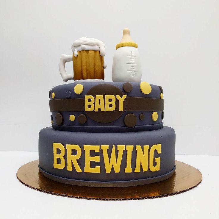 Baby brewing #babyshower #babyshowercake #babybottle #beer #babybrewing…