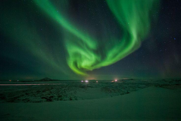 Aurora in Mývatn.