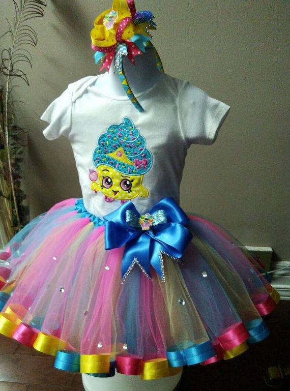 Shopkins tutu set,Shopkins dress,cupcake queen tutu set/ shopkins birthday tutu set, shopkins shirt , shopkins birthday outfit, tutu outfit