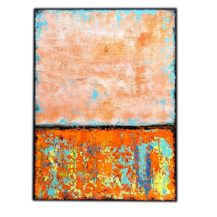 Excited to share my latest #art : Visions of Life   Abstract Painting on Canvas - 80x60cm  #acryllic #buyart #artforsale #orangeabstract #orangeblue #layersofcolor #rothkoinspired #richterstyle #texturedabstract #colorfulabstract #abstractart #instart
