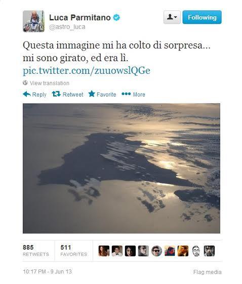 Un uomo di cui tutta l'Italia dovrebbe andare orgogliosa, Luca Parmitano.