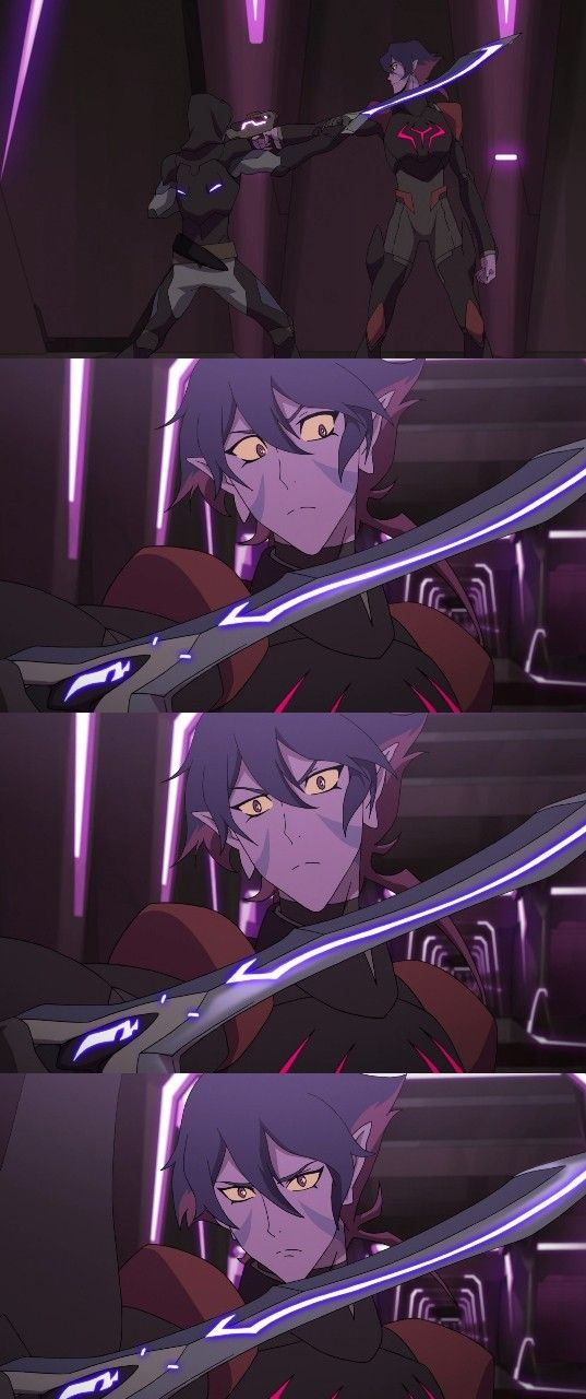 Krolia knew, she knew that that blade was hers and that only one person could have it right then and there.