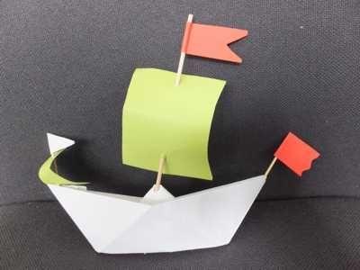 Segelschiff falten ## Papier falten mit Kindern