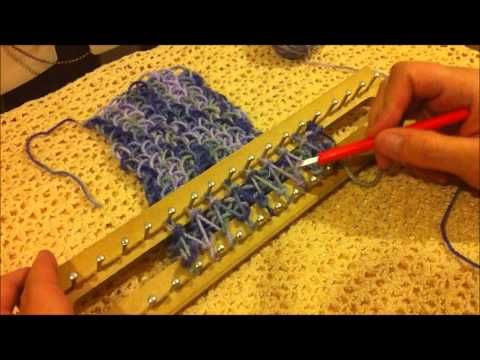 Cómo tejer: Aumentos y disminuciones en telar rectangular - YouTube - increasing and decreasing stitches on the knitting board