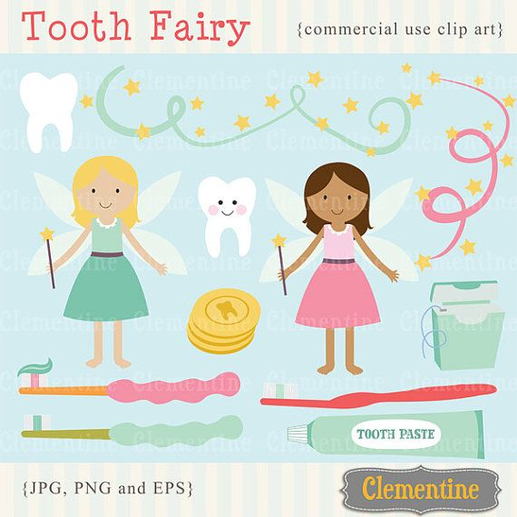 Tooth fairy clip art images  dental clipart by ClementineDigitals, $5.00