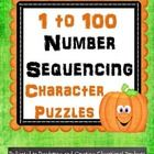 Halloween Number Sequencing {1 to 100} Puzzle Fun 23 Pages Match up the puzzle pieces in sets of 10's to automatically sequence numbers 1 to 100. Students can solve picture puzzles as they build the numbers in order when counting to 100. A super fun way to sequence number order and practice counting from 1 to 100. http://www.teacherspayteachers.com/Product/Halloween-Number-Sequencing-1-to-100-Puzzle-Fun-917982