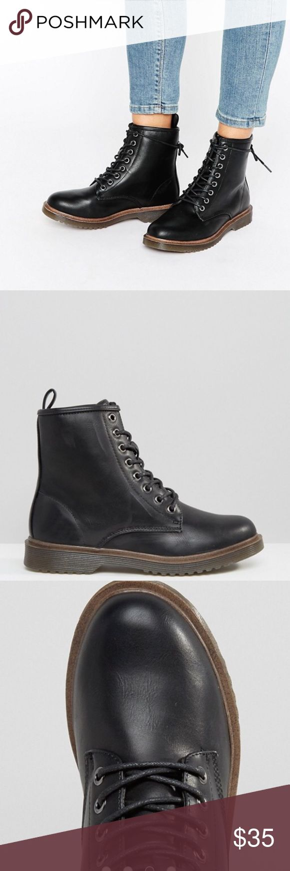 NWT New Look Lace Up Ankle Biker Boots SZ 11 NEW WITH TAGS. New Look Lace Up Ankle Biker Boots. Size 11 ASOS Shoes Combat & Moto Boots