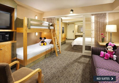 "Anaheim Portofino Hotel - not too expensive and they have ""kids suite"" rooms which is a separate area with bunk beds. Nice place to stay near Disneyland with kiddo fun without being on resort."
