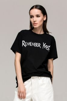Loose T-shirt Printed with Letters