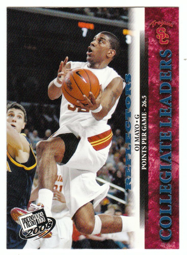 O.J. Mayo # 38 - 2008 Press Pass Basketball Reflector