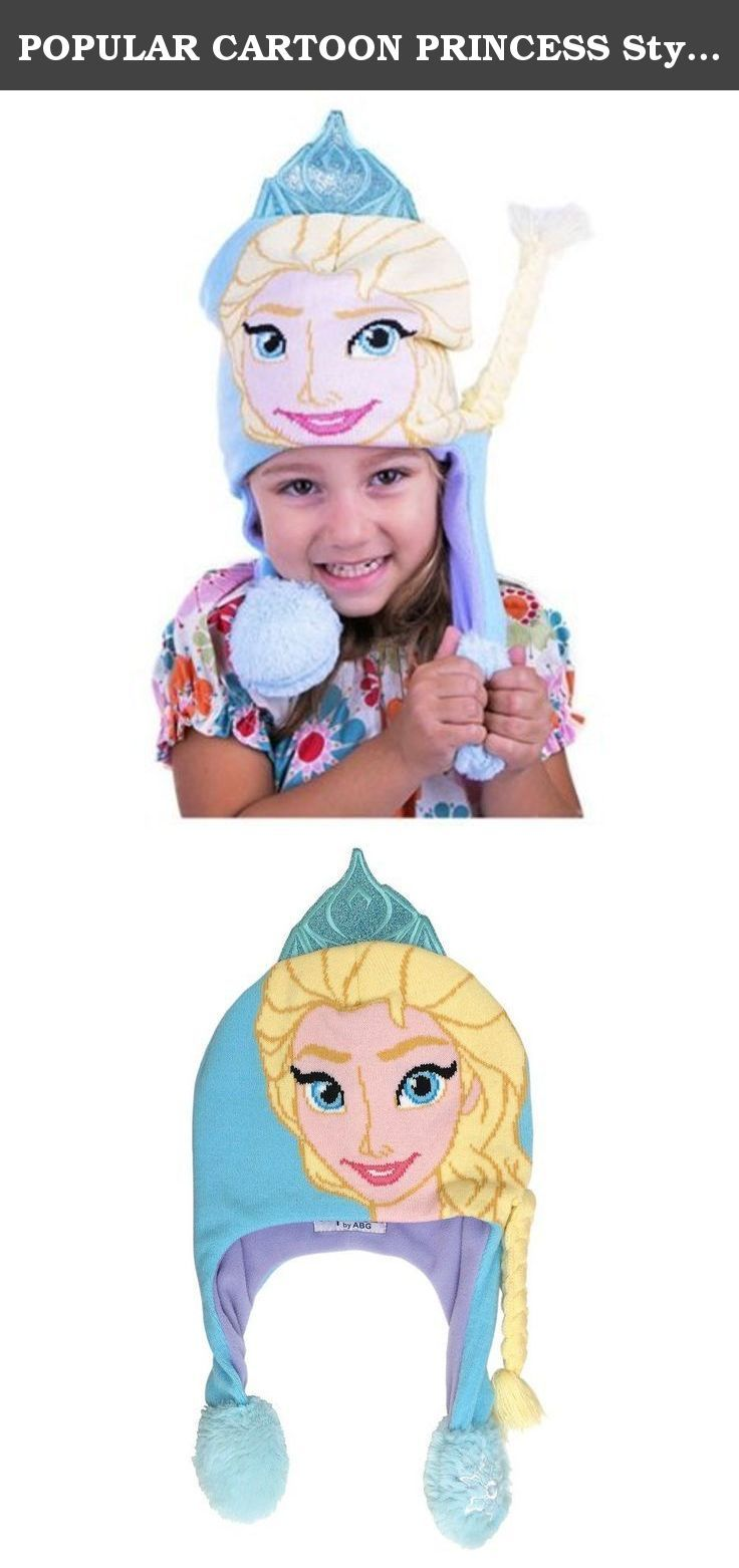 POPULAR CARTOON PRINCESS Style Crown Braid Pony Flipeez Hat Kids Youth Fits Most 2 PK. Your little girl will be ecstatic for this frozen princess Elsa hat that features bright, colorful details. squeeze bulb to make braid flip glitter crown accents embroidered snowflake on tassel acrylic hand wash, dry flat imported.