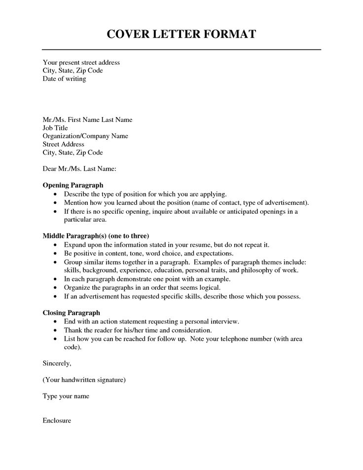 25+ How To Format A Cover Letter Cover letter format
