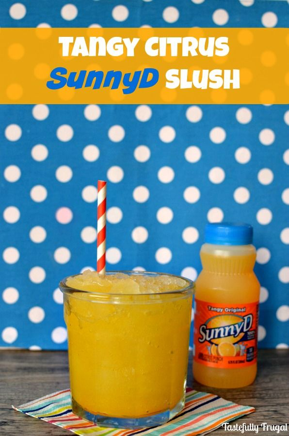 Tangy Citrus SunnyD Slush: This sweet treat is sure to keep you cool this summer! #WhereFunBegins #CollectiveBias #ad @SunnyD @SamsClub