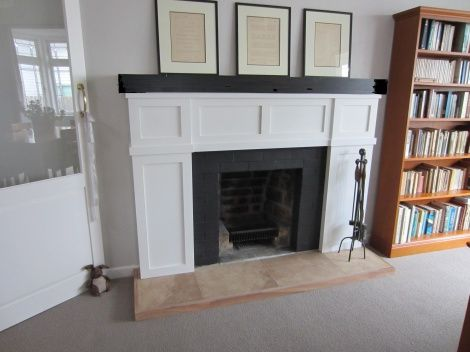 Californian bungalow fire surround with mantle - Fireplace Renovations (Auckland) Ltd.