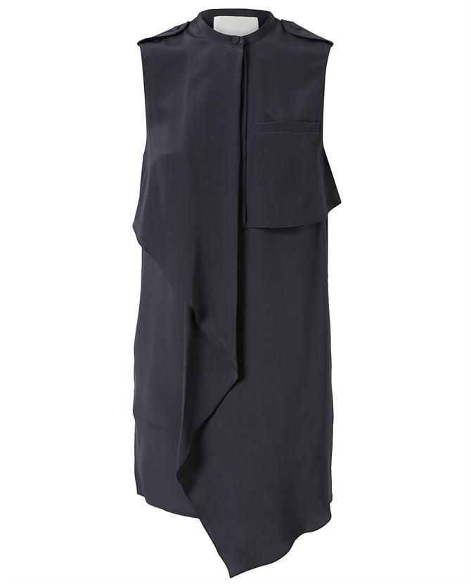 3.1 PHILLIP LIM  -- Draped Silk Utility Dress