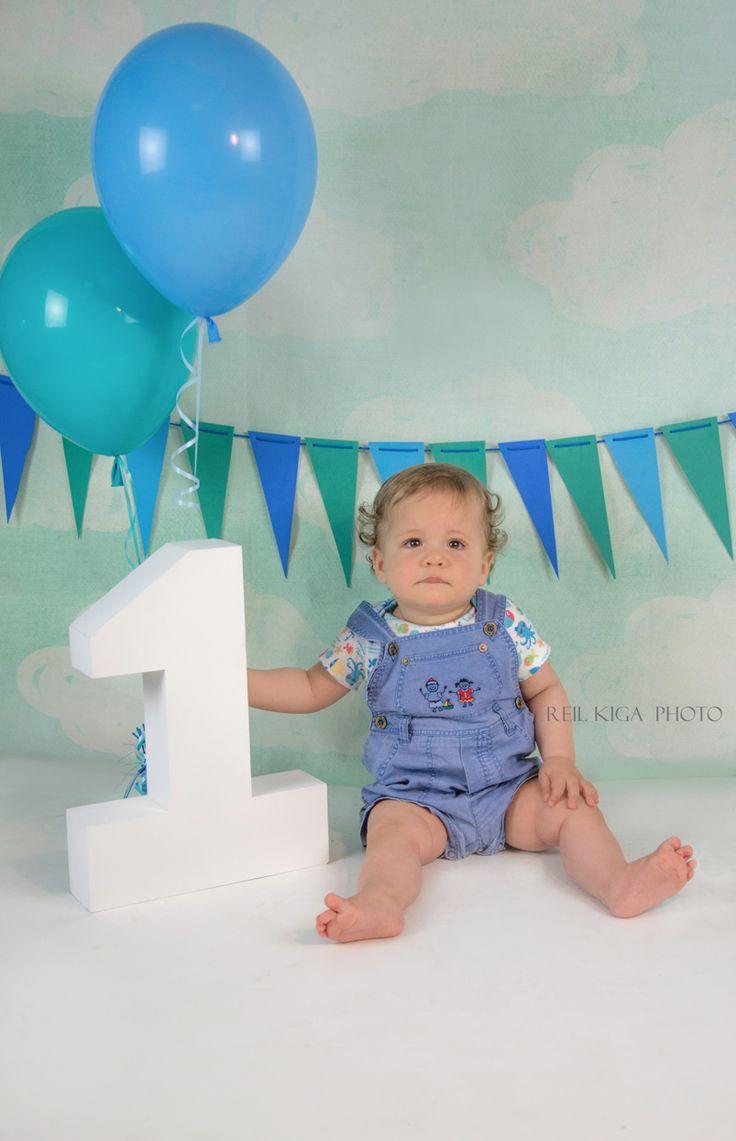 Birthday 1 #one #boy #cake smash #cake