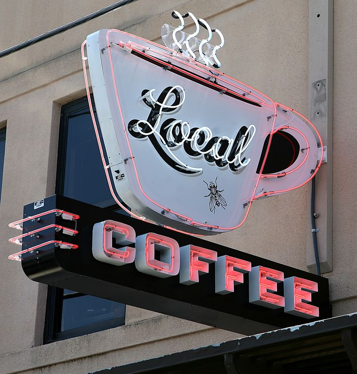 Local Coffee - San Antonio neon sign