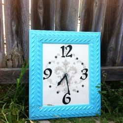 make your own clock using any frame you want and a clock kit