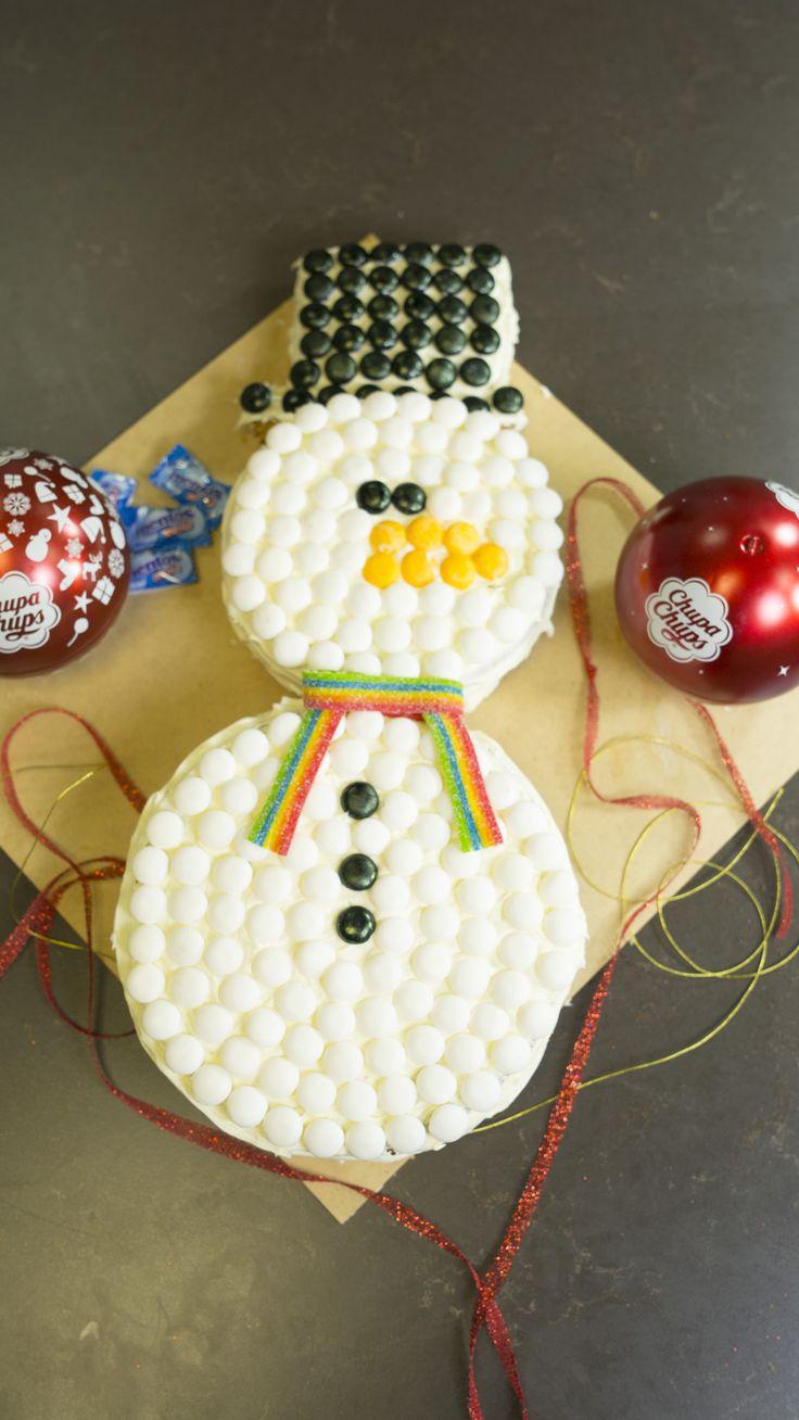 Cómo hacer un Pastel de Muñeco de Nieve