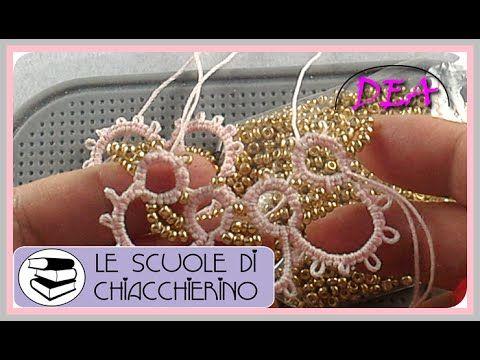 16°Tutorial - Scuole di Chiacchierino - Navette: Perle tra i Cerchi 2°Parte - YouTube