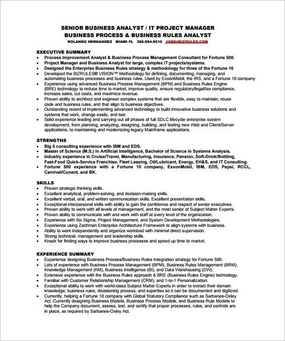 Business Analyst In 2020 Business Resume Template Business