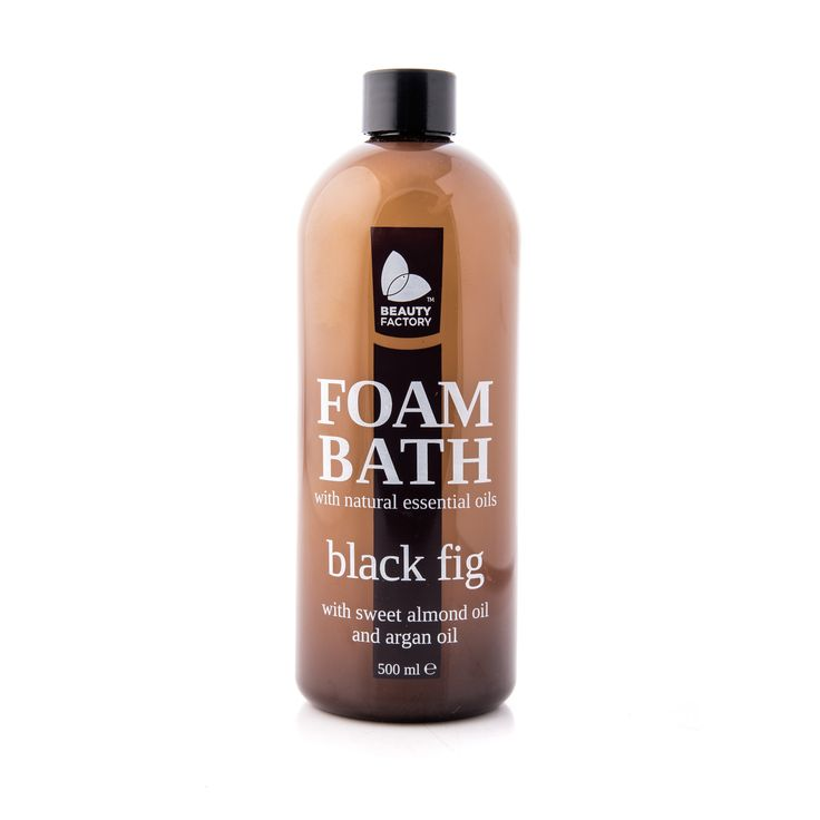 FOAM BATH WITH SWEET ALMOND OIL AND ARGAN OIL  Black Fig warms the heart with notes of fresh fig leaves and the softness of warm cedarwood and white musk. Added natural essential oils of argan and sweet almond improve skin tone whilst nourishing and hydrating. Black Fig Foam Bath 500ml | GoodiesHub.com