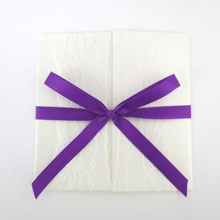 Annie purple invitation