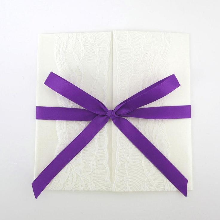Annie purple invitation