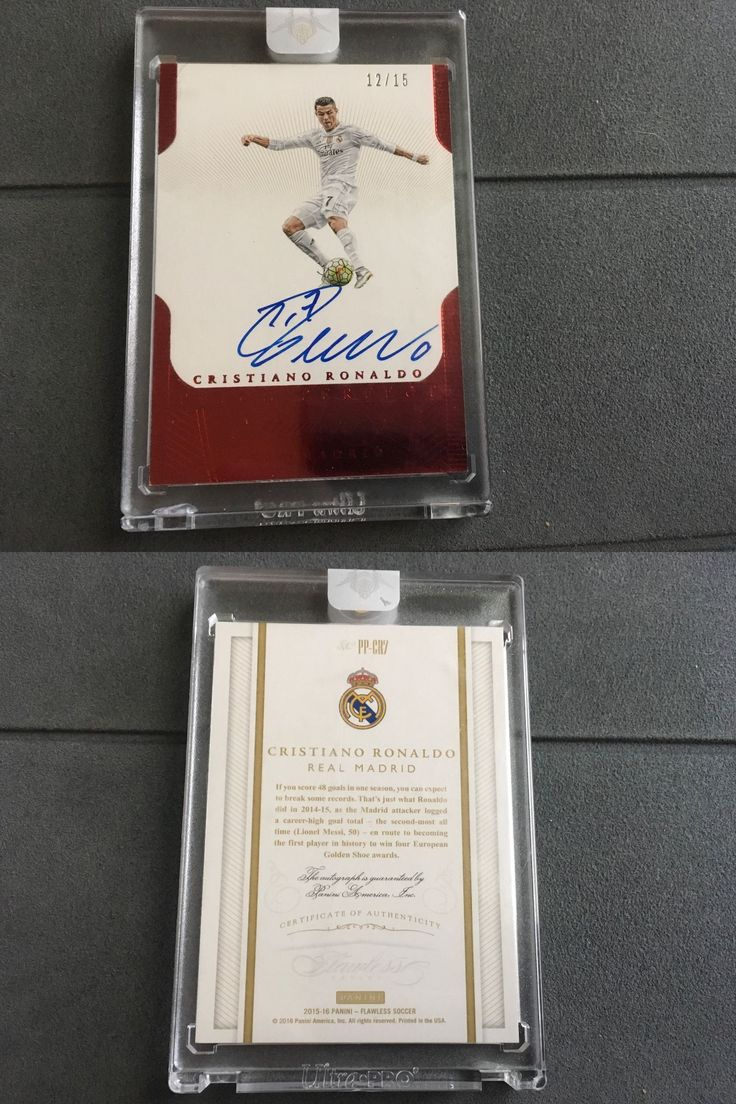 Soccer Cards 183444: 2016 Flawless Soccer Signatures Cristiano Ronaldo Auto #12 15 Real Madirid -> BUY IT NOW ONLY: $1799 on eBay!