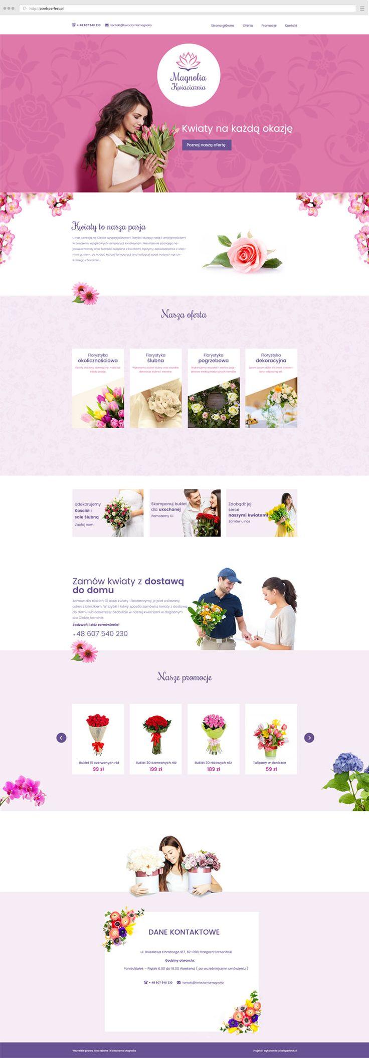 Flowers shop | pixelsperfect.pl projektowanie stron internetowych Konin