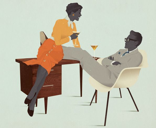 Jack Hughes' incredible, sartorially outstanding 50s figures. He only graduated last year too... www.jackmrhughes.tumblr.com