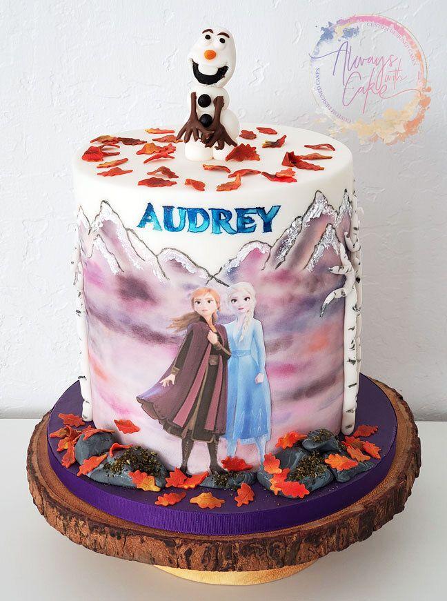 Frozen 2 Cake Frozen Birthday Cake Frozen Themed