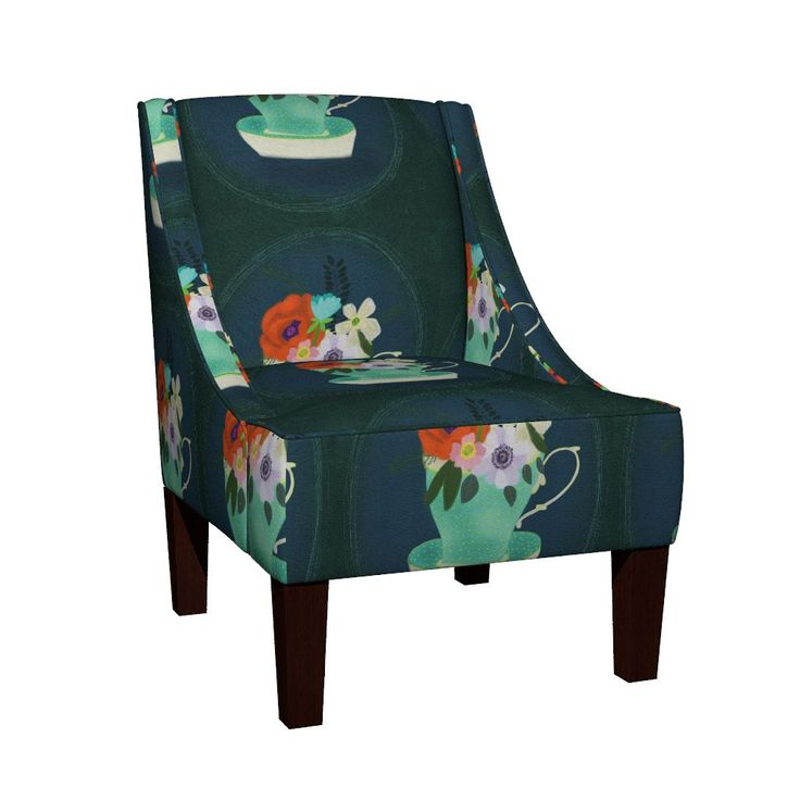 Venda Sloped Arm Chair featuring IMG_3601 by ali_lamontagne_illustration_ | Roostery Home Decor