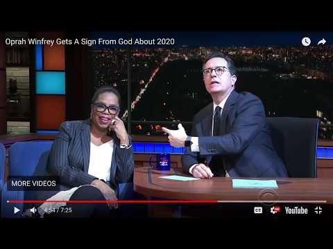 (56) Oprah and Steve Colbert turn God into a Cartoon - YouTube