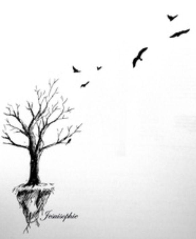 Bird And Tree Tattoos