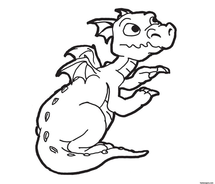 Dragon - coloring pages for boys - Free Large Images
