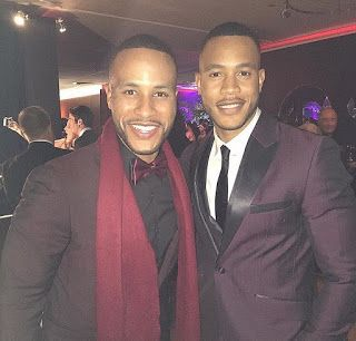 Does Andre From Empire Have A Twin?  The video below shows Trai Byers and DeVon Franklin. They look exactly alike but they are not brothers. Trai and DeVon are not related. The video features Trai and DeVon's beautiful wives: Grace Byers and Meagan Good. The couples are enjoying a vacation in Jamaica. Can you tell Trai and DeVon apart?  #Repost @theshaderoom (@get_repost)  #TSRBaeWatch: Aww #GraceGealey and her husband #TraiByers are on a baecation in #Jamaica with #MeaganGood and her…