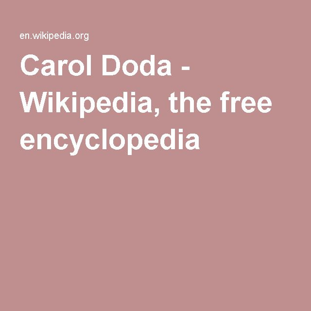 Carol Doda - Wikipedia, the free encyclopedia