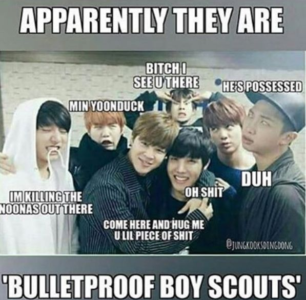 Yeah pretty much sums up all of bangtan