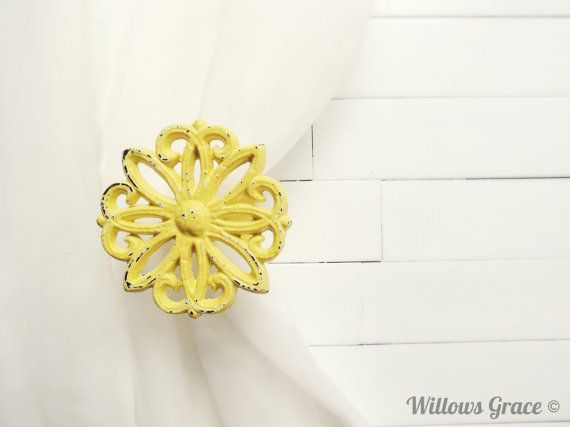 Two Metal Curtain Tie Backs / Curtain Tiebacks / by WillowsGrace, $25.00
