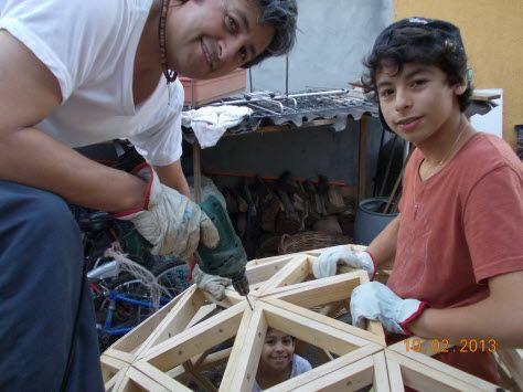 domo geodesico madera 1 - testimonio Sergio Jara