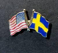 Lapel Pin - Swedish/American Flag
