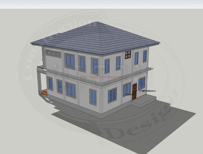 House Plan Design House Design Idea 9x11 5 With 4 Bedrooms Home Design Plans House Design Free House Plans