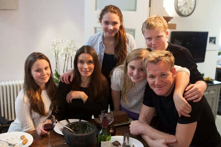 Gordon Ramsay & his family.  Chef Ramsay is one of my heroes.  I greatly admire people who overcome hardships, stick by their families and friends, and use their success to empower others.  Amazing man.  Does he ever sleep..?