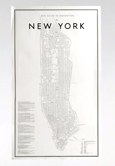 New York kort fra Artilleriet http://www.artilleriet.se/shop/details/#2013-guide-to-manhattan