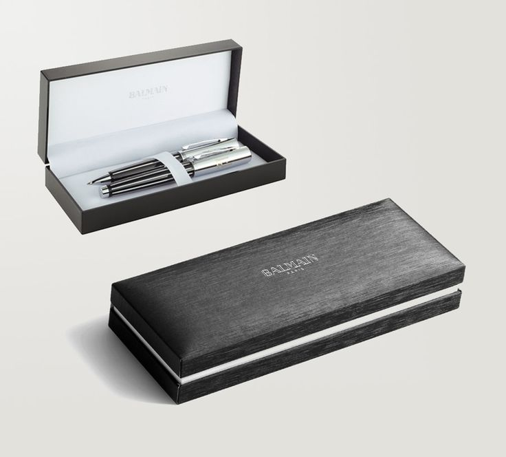 Balmain Paris Pen Set engraved with your logo. We supply corporate gift pen sets in Sandton, Johannesburg and throughout South Africa. Brand Innovation