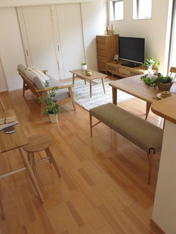 ナラ・オーク無垢材を使用した家具で統一した北欧風なナチュラルコーディネート事例をご紹介 の画像 家具なび ~きっと家具から始まる家づくり~