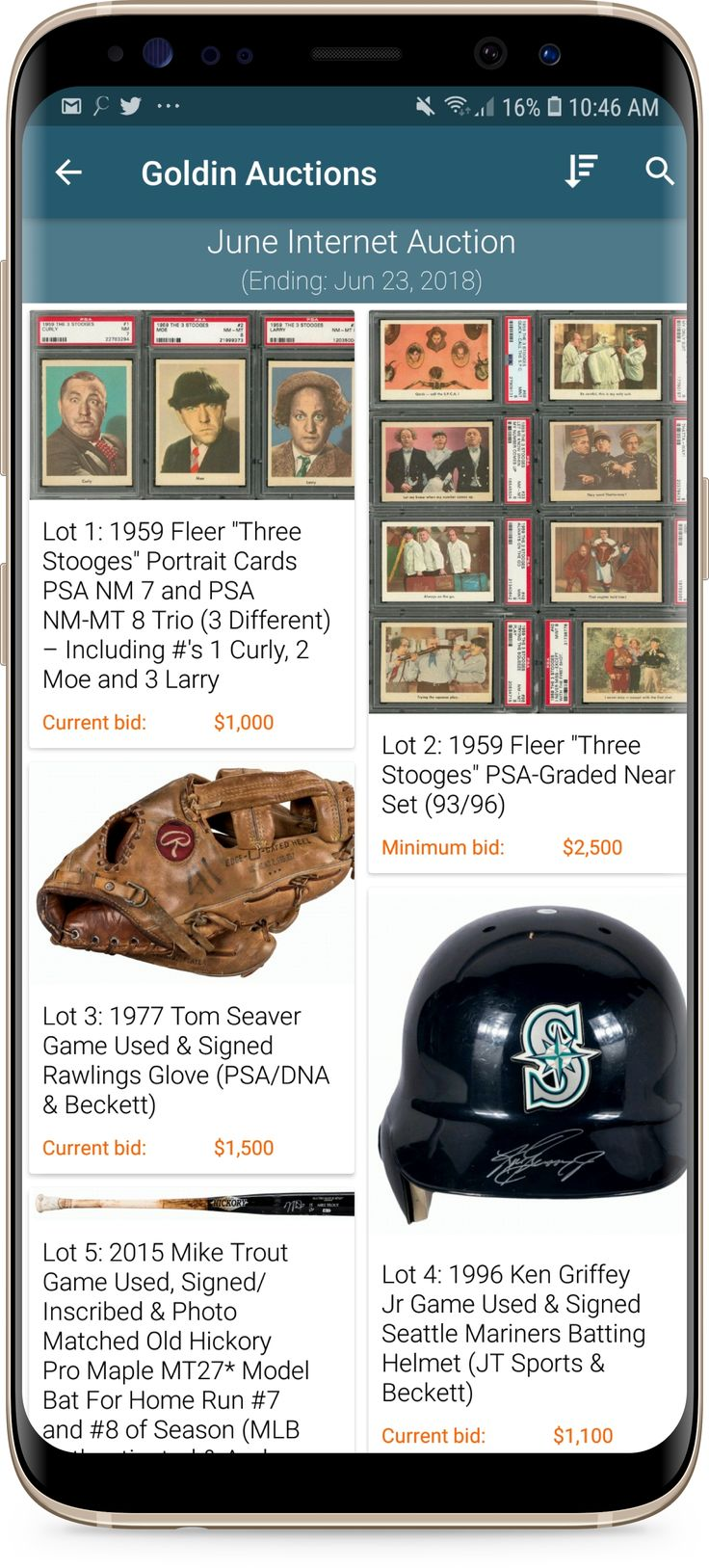 A great selection of sports and nonsports cards, high